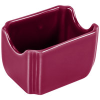 Homer Laughlin 479341 Fiesta Claret 3 1/2 inch x 2 3/8 inch Sugar Caddy   - 12/Case