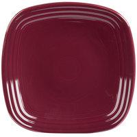 Homer Laughlin 920341 Fiesta Claret 9 1/4 inch Square Luncheon Plate - 12/Case