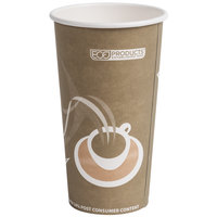 Eco Products EP-BRHC20-EW Evolution World PCF 20 oz. Paper Hot Cup - 1000 / Case