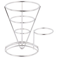 GET 4-88864 5 inch Stainless Steel Wire Cone Basket with Ramekin Holder