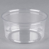 Fabri-Kal Alur RD12 12 oz. Recycled Customizable Clear PET Plastic Round Deli Container - 50/Pack