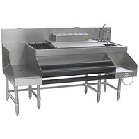 Eagle Group CCS-72-2 Spec-Bar 72 inch Stainless Steel Combination Cocktail Station with 18 inch Recessed Workboard