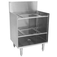 Eagle Group GR18-19 Spec-Bar 18 inch x 19 inch Stainless Steel Glass Rack Storage Unit with Shelves