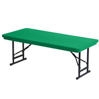 Correll R-Series RA2448S 24 inch x 48 inch Green Plastic Adjustable Height Folding Table
