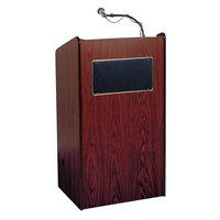Oklahoma Sound 6010MY Mahogany Finish Aristocrat Floor Lectern with Sound
