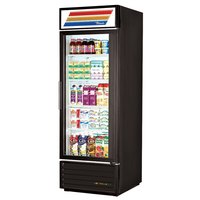 True GDM-23-LD Black Glass Door Refrigerated Merchandiser with LED Lighting - 23 Cu. Ft.
