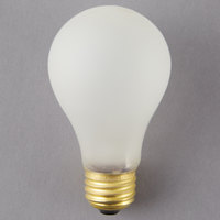 Satco S3932 100 Watt Frosted Shatterproof Finish Incandescent Rough Service Light Bulb -130V (A19)
