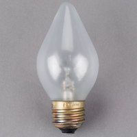 Satco S4536 60 Watt Clear Shatterproof Finish Decorative Incandescent Rough Service Light Bulb - 240V (C15)