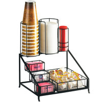 Cal-Mil 1453 Iron Coffee Condiment Display - 12 inch x 10 1/2 inch x 14 1/2 inch