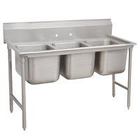 Advance Tabco 9-43-72 Super Saver Three Compartment Pot Sink - 86 inch