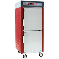 Metro C549-ASDS-L Insulated Stainless Steel Full Height Hot Holding Cabinet with Solid Dutch Doors and Lip Load Slides - 120V, 1360W