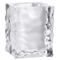 Sterno Products 80140 4 inch Frosted Ice Cube Liquid Candle Holder
