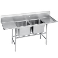 Advance Tabco 94-62-36-18RL Spec Line Two Compartment Pot Sink with Two Drainboards - 77 inch