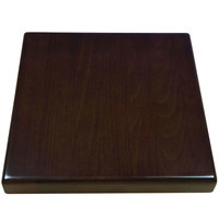 American Tables & Seating UV3030-50 W 30 inch x 30 inch Square Table Top - Walnut