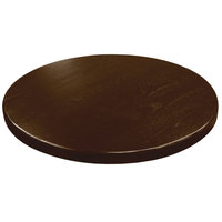 American Tables & Seating UV30-50 W 30 inch Round Table Top - Walnut