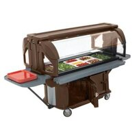 Cambro VBRU6146 Bronze 6' Versa Ultra Food / Salad Bar with Storage and Standard Casters
