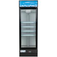 Avantco GDC-15-HC 25 5/8 inch Black Swing Glass Door Merchandiser Refrigerator with LED Lighting - 13.3 Cu. Ft.