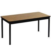 Correll LR3672-06 36 inch x 72 inch Medium Oak Library Table - 29 inch Height