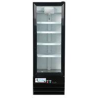 Avantco GDC-10-HC 21 5/8 inch Black Swing Glass Door Merchandiser Refrigerator with LED Lighting - 8.6 Cu. Ft.