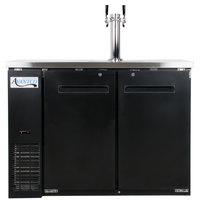Avantco UDD-48-HC Kegerator / Beer Dispenser with Double Tap Tower - (2) 1/2 Keg Capacity