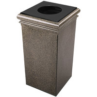Commercial Zone 722118 StoneTec 30 Gallon Aspen Square Trash Receptacle with Lid