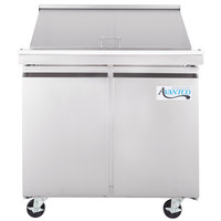 Avantco SS-PT-36M 36 inch Mega Top 2 Door Stainless Steel Refrigerated Sandwich Prep Table