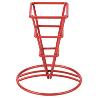 GET 4-91644 2 1/2 inch x 5 1/4 inch Red Square Fry Cone Basket