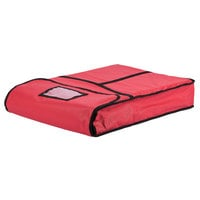 18 inch x 26 inch x 5 inch Red Insulated Vinyl Full Size Bun / Sheet Pan Delivery Bag / Carrier