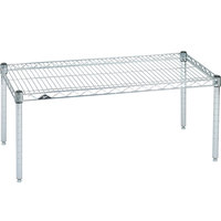 Metro P2124NS 24 inch x 21 inch x 14 inch Super Erecta Stainless Steel Wire Dunnage Rack - 800 lb. Capacity