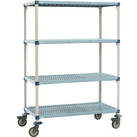 Metro Q556EG3 MetroMax Q Open Grid Shelf Cart 48 inch x 24 inch x 69 inch
