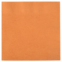 Creative Converting 323390 Pumpkin Spice Orange 3-Ply Beverage Napkin - 50/Pack