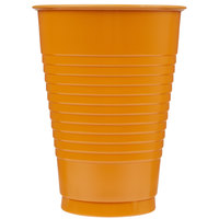 Creative Converting 323391 12 oz. Pumpkin Spice Orange Plastic Cup - 20/Pack