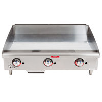 Star Max 636TCHSF-NAT 36 inch Countertop Gas Griddle with Chrome Plate and Thermostatic Controls - 84,900 BTU