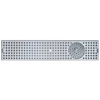 Micro Matic DP-120D-30GR 5 inch x 30 inch Stainless Steel Surface Mount Drip Tray with Glass Rinser