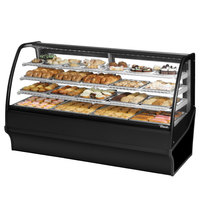 True TDM-DC-77-GE/GE 77 inch Black Curved Glass Dry Bakery Display Case