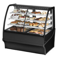 True TDM-DZ-48-GE/GE 48 inch Black Curved Glass Dual Dry / Refrigerated Bakery Display Case