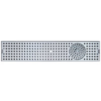 Micro Matic DP-120D-36GR 5 inch x 36 inch Stainless Steel Surface Mount Drip Tray with Glass Rinser