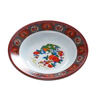 Peacock 10 oz. Round Melamine Soup Plate - 12 / Pack