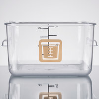 Rubbermaid 1980248 Color-Coded Clear 4 Qt. Square Food Storage Container with Brown Logo