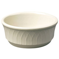 Homer Laughlin 3297000 Gothic 12.5 oz. Ivory (American White) China Nappie Bowl - 24/Case