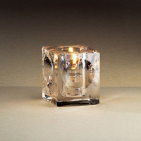 Sterno Products 80220 Presidio Square Glass Liquid Candle Holder