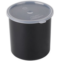 Carlisle 030203 2.7 Qt. Black Classic Crock with Lid - 6/Case