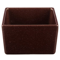 Tablecraft CW4024MRS Contemporary Collection Maroon Speckle 1 Qt. Straight Sided Bowl
