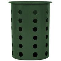 Steril-Sil RP-25-HUNTER Hunter Green Plastic Straight Sided Flexible Silverware Cylinder