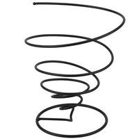 GET 4-32808 8 inch Black Iron Powder Coated Spiral Wire Cone Basket