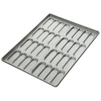 Clustered 32 Mold Hot Dog Bun Pan