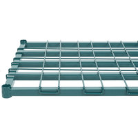 Regency 24 inch x 48 inch Green Epoxy Heavy-Duty Dunnage Shelf with Wire Mat - 800 lb. Capacity