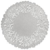 8 inch Silver Foil Lace Doily - 500 / Case