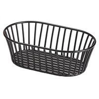 GET 4-31892 8 1/2 inch x 5 1/2 inch Black Iron Powder Coated Short Oval Tuscan Basket