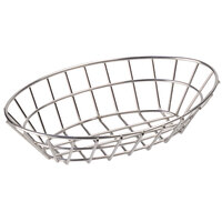 GET 4-82144 9 3/4 inch x 6 1/4 inch Stainless Steel Oval Grid Basket